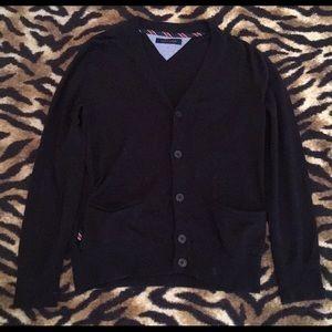 Tommy Hilfiger Black Cardigan Size Large